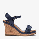 Erica Navy Wedge - Sample