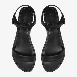 Mim Black leather Sandal