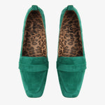 Alessandra Green Suede Loafer