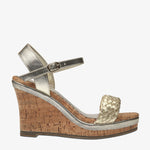 Erica Gold leather Wedge