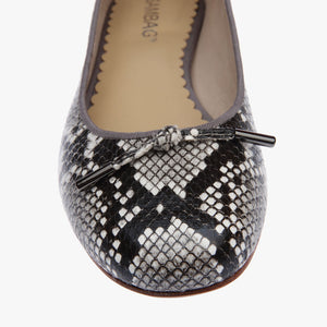 Grace Python Embossed Leather Ballet