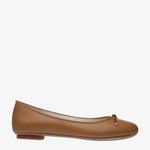 Grace Tan Leather Ballet Flat