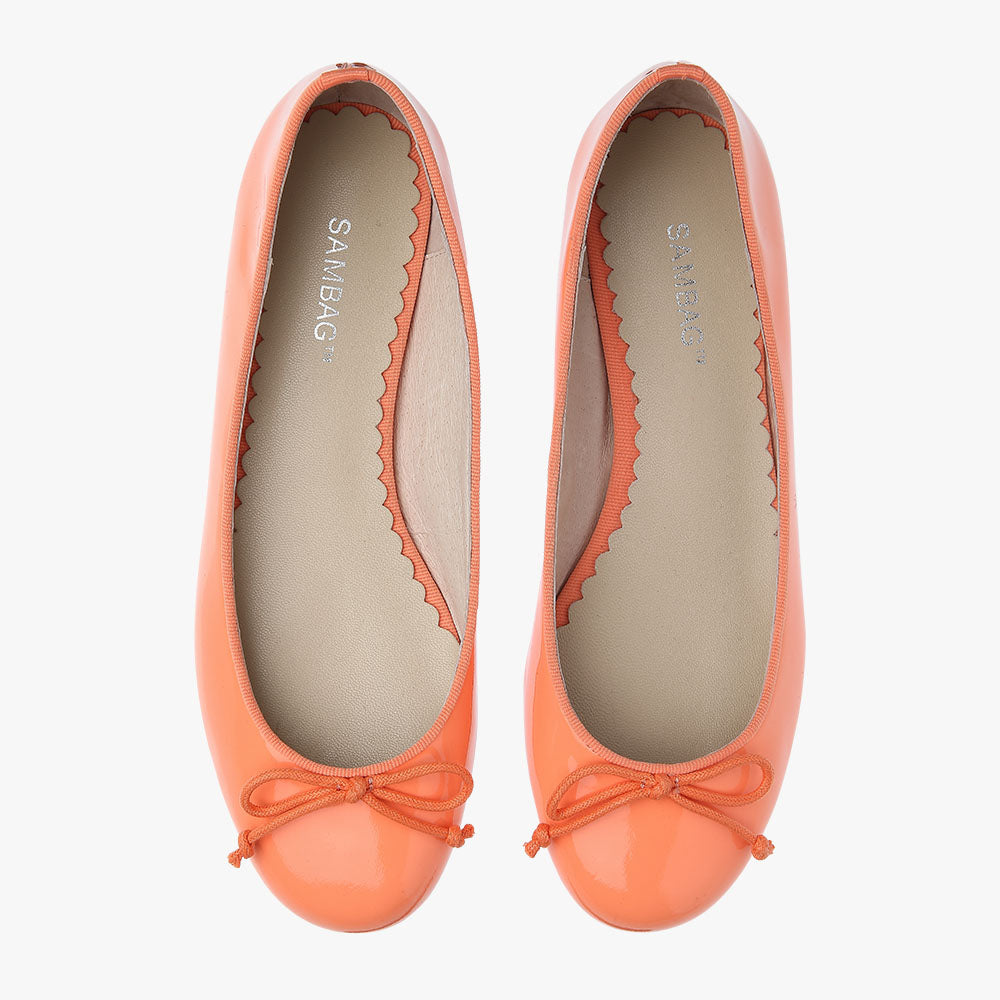 Tina Coral Patent Leather Ballet Flat