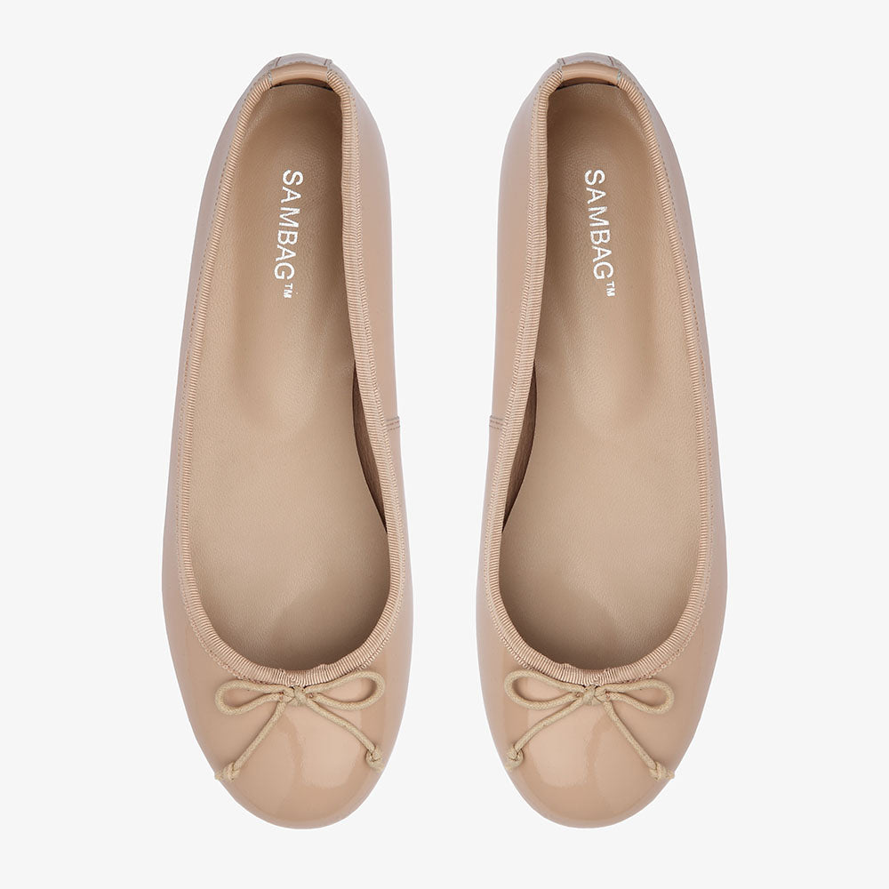 Natalie Blush Patent Leather Ballet Flat