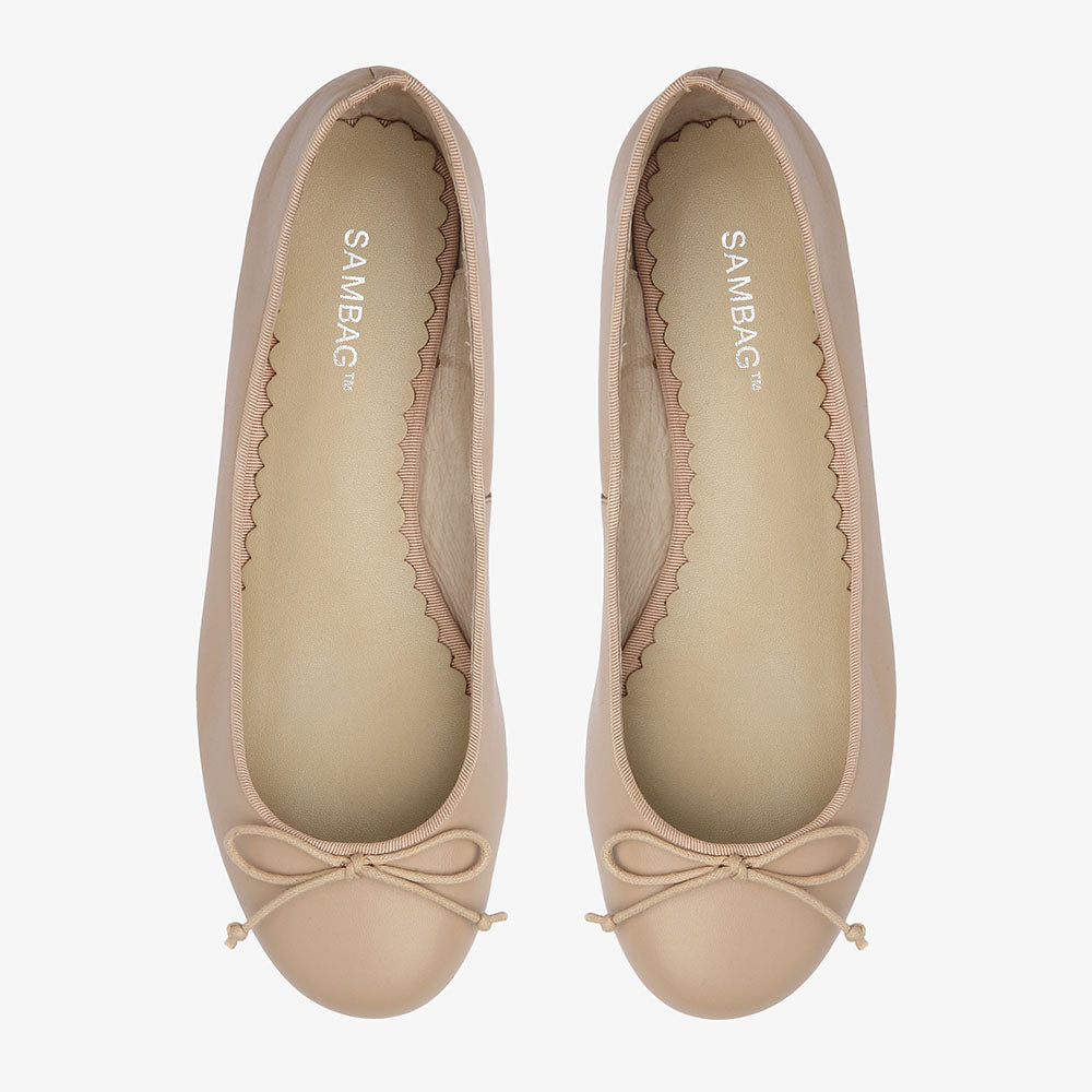 Tina Blush leather Ballet