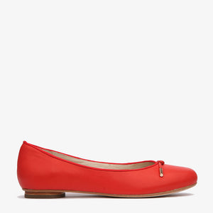 Grace Red Leather Ballet Flat