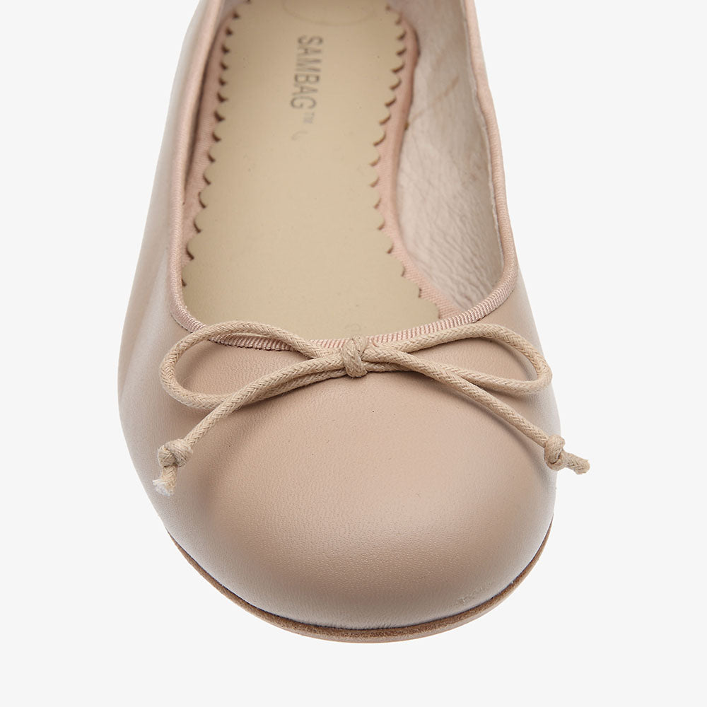 Tina Blush Leather Ballet Flat
