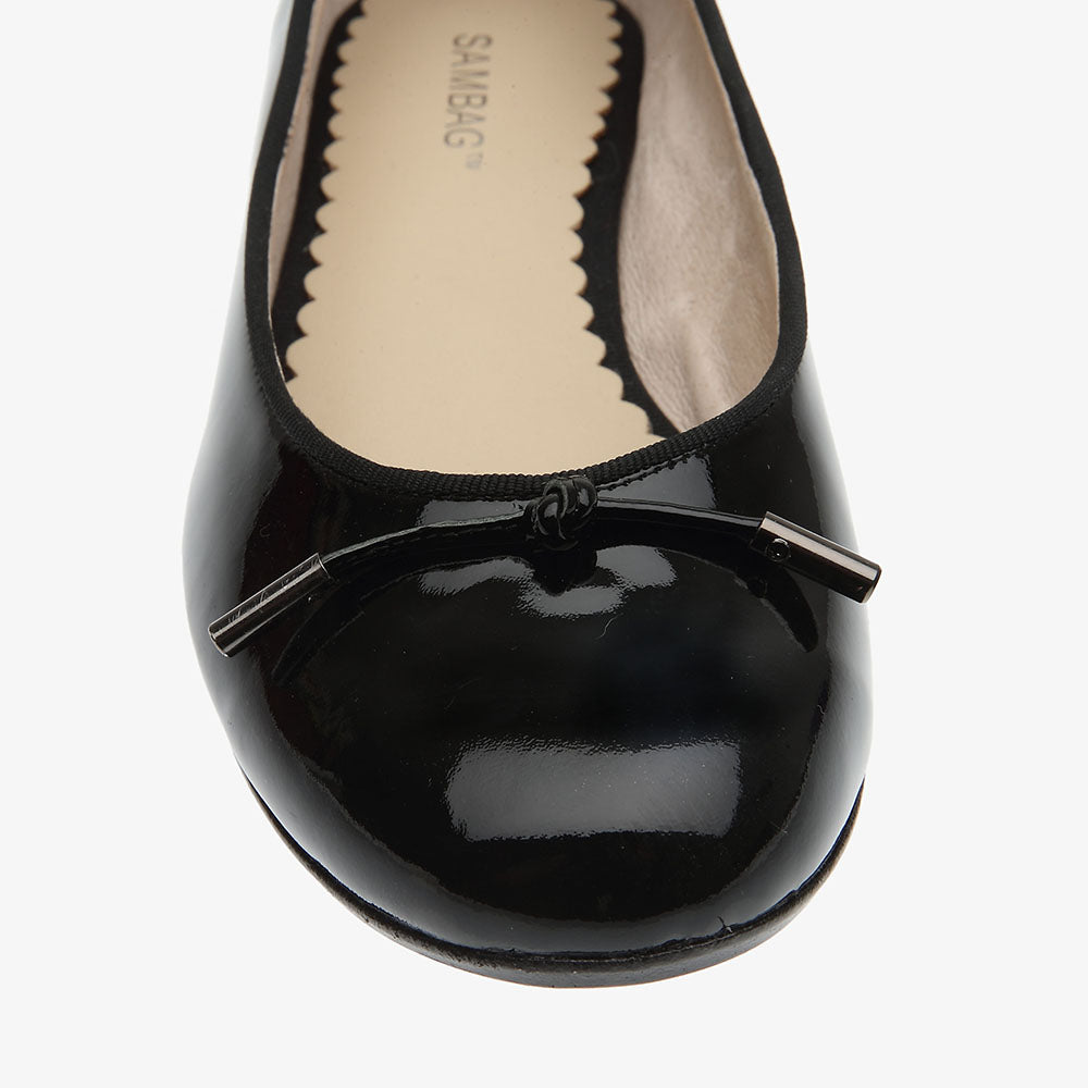Grace Black Patent Leather Ballet Flat