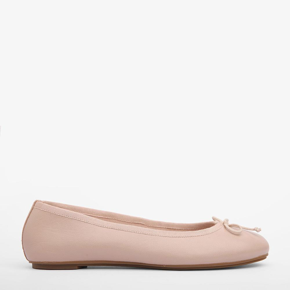 Natalie Blush Leather Ballet Flat