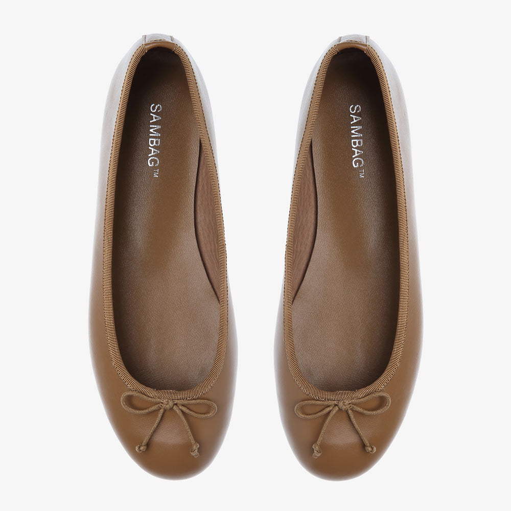 Natalie Tan Leather Ballet Flat