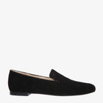 Nina Black Suede Square front Loafer