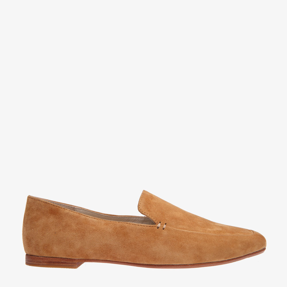 Nina Rust Suede Square front loafer