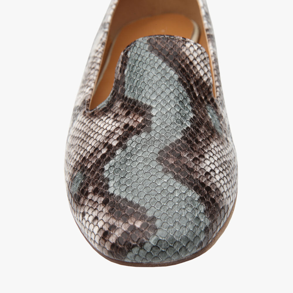 Riley Green Snake Vegan Leather Loafer
