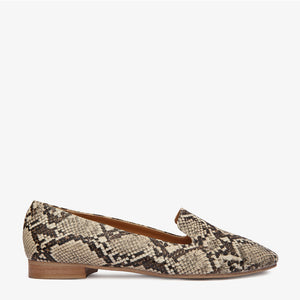 Riley Tan Snake Vegan Leather Loafer