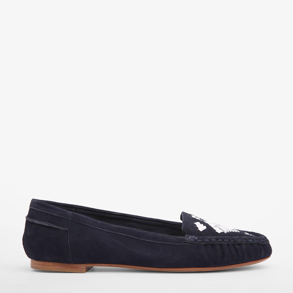 Sam Navy suede loafer