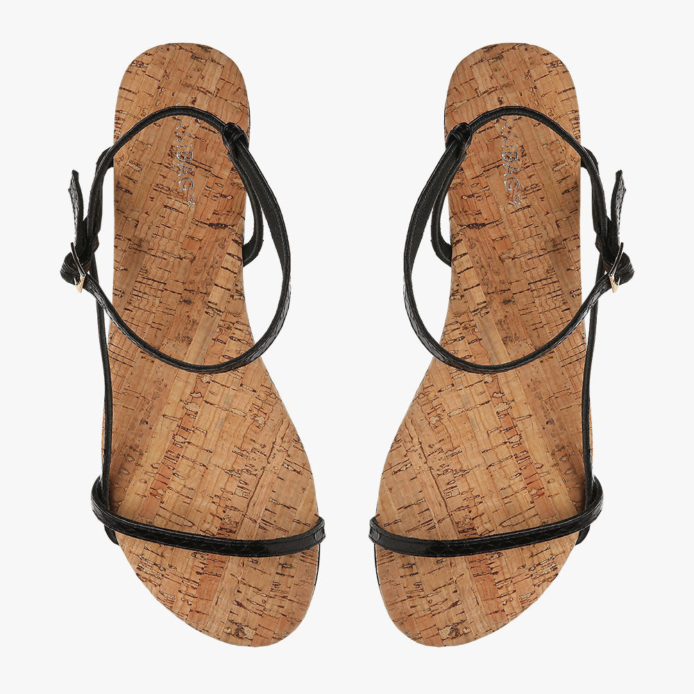 Summer Black Snake Sandal
