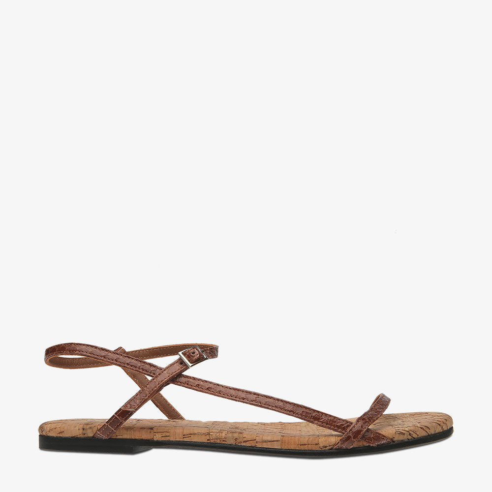 Summer Tan Snake Sandal