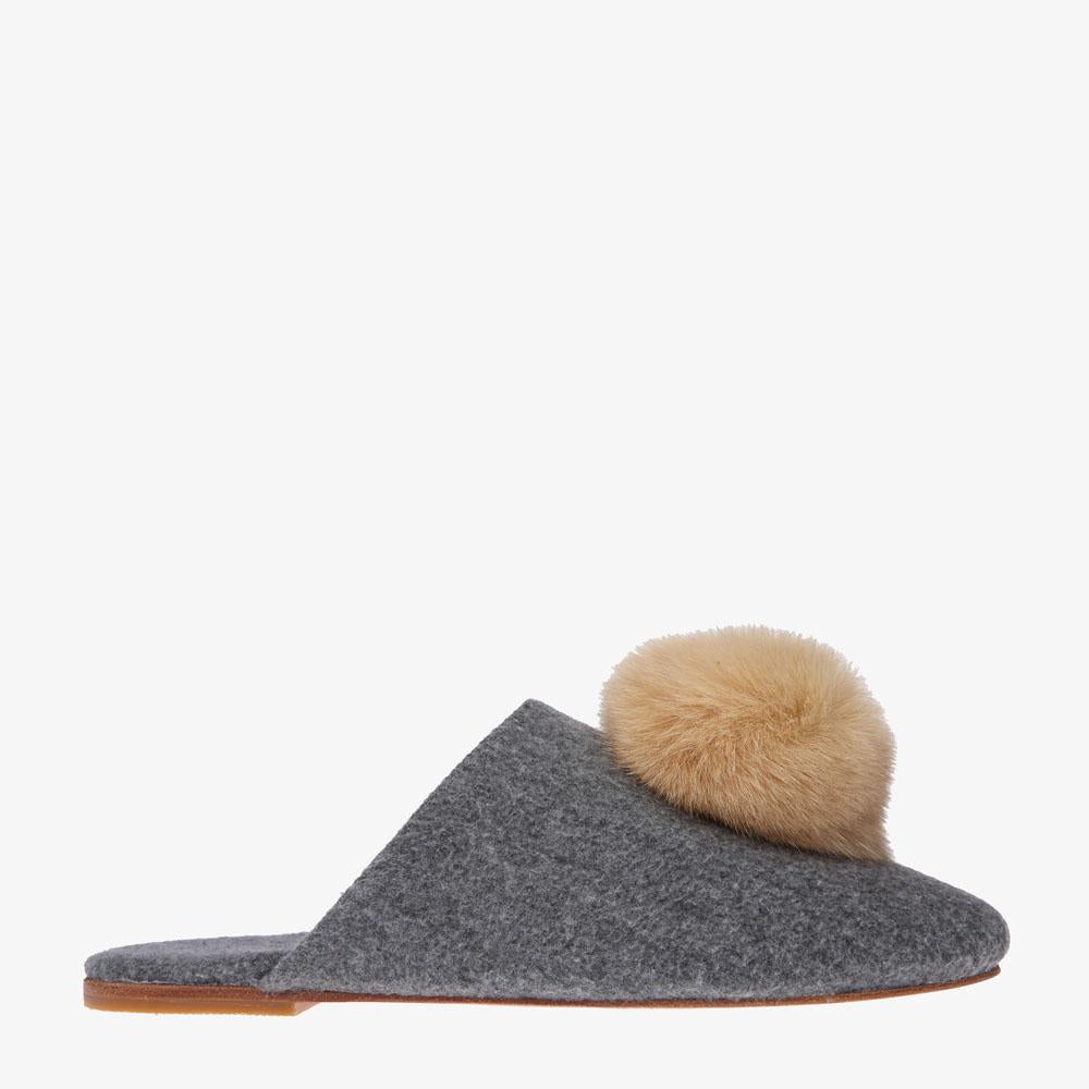 Tea Marle Grey Slipper - Sample Size 38