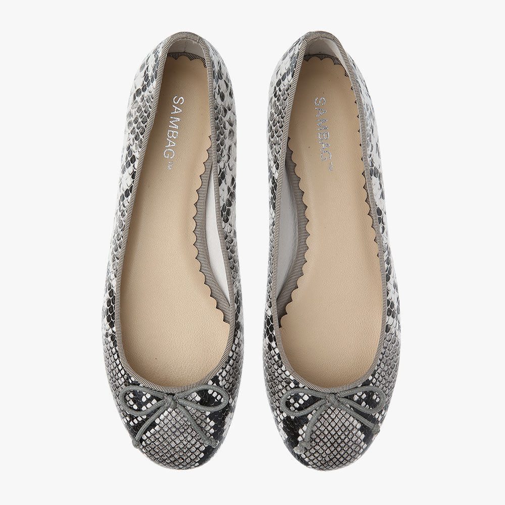 Tina Grey Python Embossed Leather Ballet