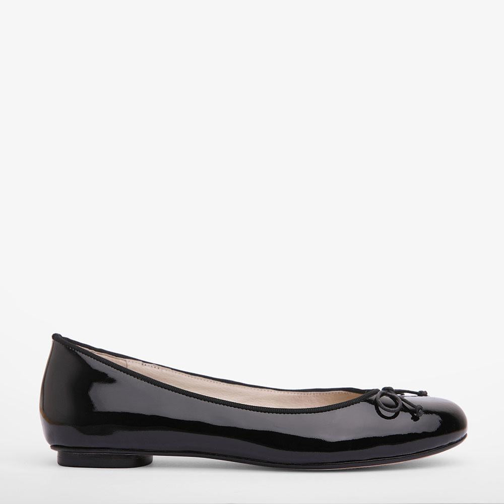 Tina Black Patent Leather Ballet