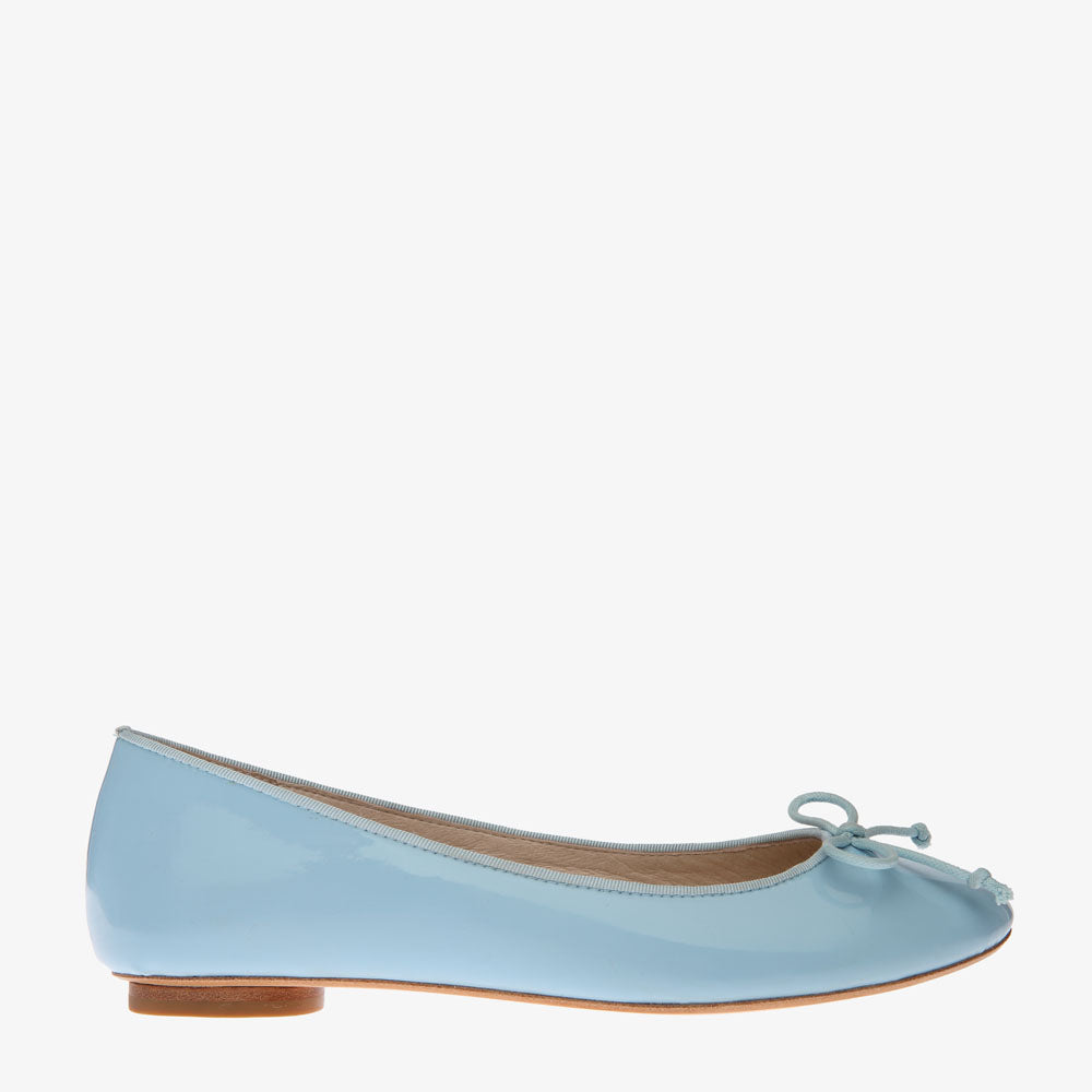Tina Sky Blue Patent Leather Ballet Flat