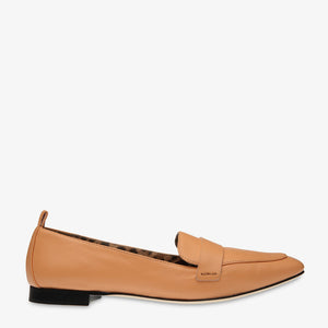 Alessandra Peach Leather Loafer