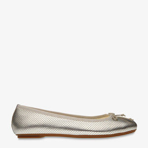 Natalie Gold Perforated leather Ballet Flat