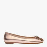 Natalie Metallic Rose Gold Ballet Flat