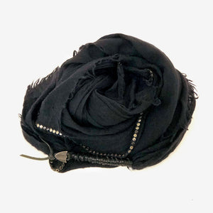 Hollywood Trading Company Swashy Scarf Black