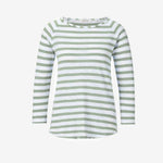 Mint Stripe Long Sleeve Jersey