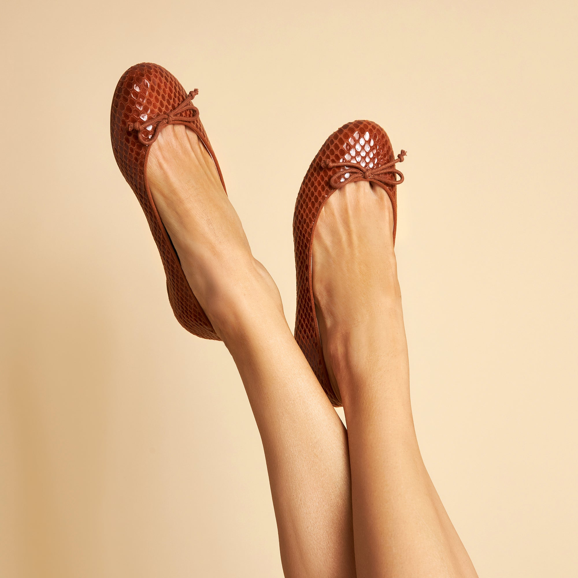 Tina Tan Pebble Embossed Ballet Flat