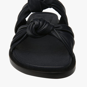 Scarlet Navy Knotted leather Sandal