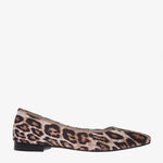 Sophia Leopard Fabric pointed toe Flat
