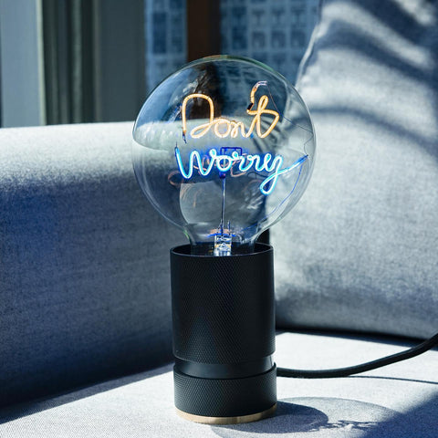 "Message In The Bulb LED ""Dont Worry"""