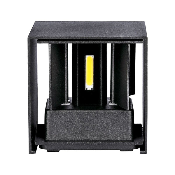 V-Tac LED Vægspot 6W IP65 Sort