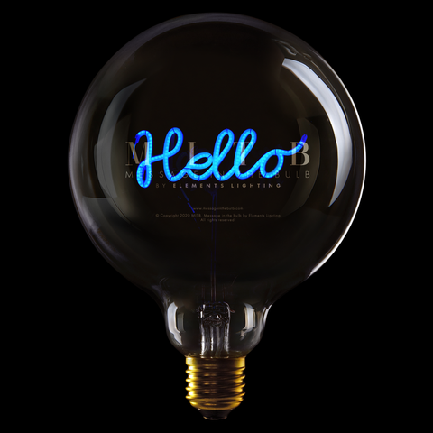 "Message In The Bulb LED ""Hello"" Blå"