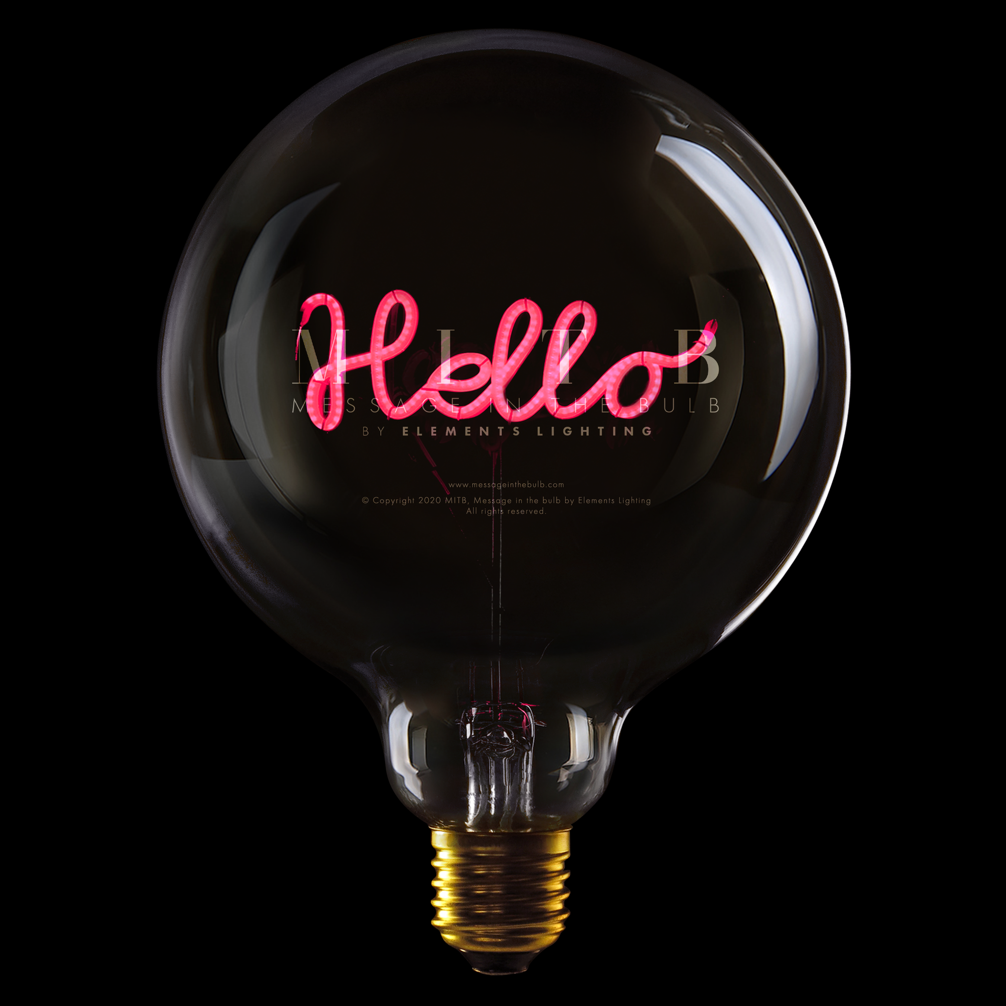 "Message In The Bulb LED ""Hello"" Rød"