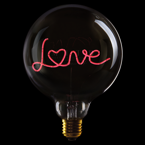 "Message In The Bulb LED ""LOVE"""