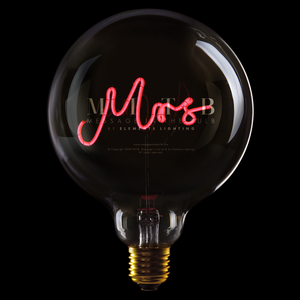 "Message In The Bulb LED ""Mrs"""