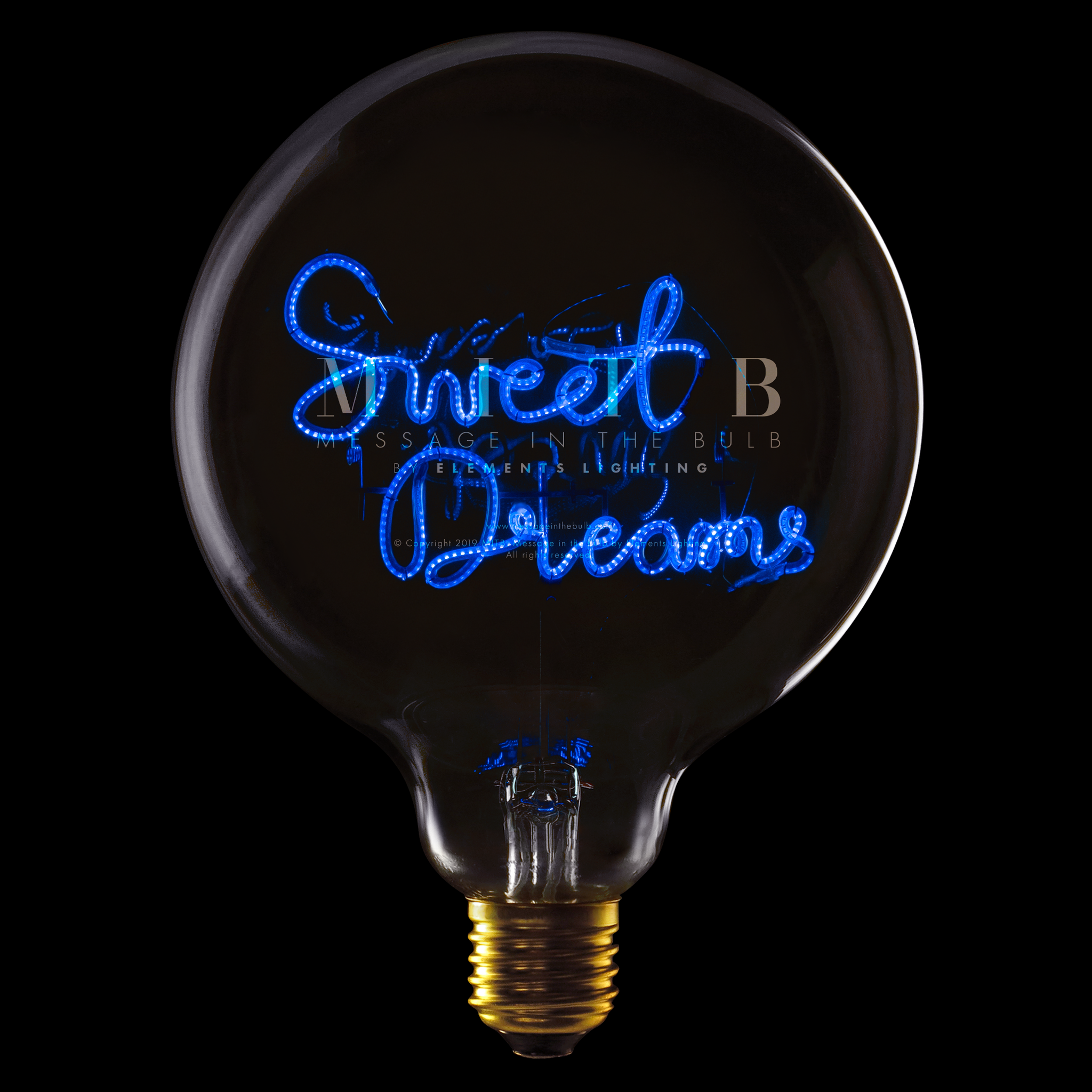 "Message In The Bulb LED ""Sweet Dreams"""