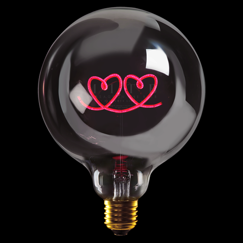"Message In The Bulb LED ""Hjerter"""
