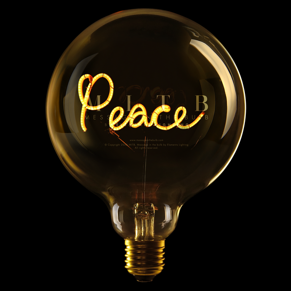 "Message In The Bulb LED ""Peace"""