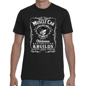 Brand New Muscle Car T-Shirt Mens Design 2 White Ink FRONT ONLY
