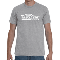 Brand New Muscle Car T-Shirt Mens Front 1 Back 1 White Ink FRONT AND BACK