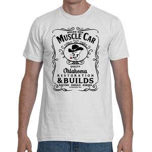 Brand New Muscle Car T-Shirt Mens Design 2 Black Ink FRONT ONLY