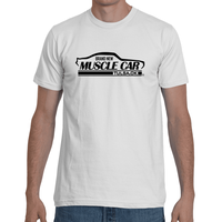 Brand New Muscle Car T-Shirt Mens Front 1 Back 1 Black Ink FRONT AND BACK