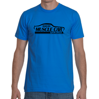 Brand New Muscle Car T-Shirt Mens Front 1 Black Ink FRONT ONLY