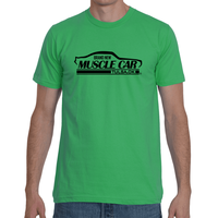 Brand New Muscle Car T-Shirt Mens Front 2 Back 1 White Ink FRONT AND BACK