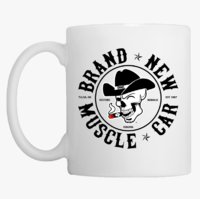 Brand New Muscle Car Coffee Mug Design 1 Black Ink