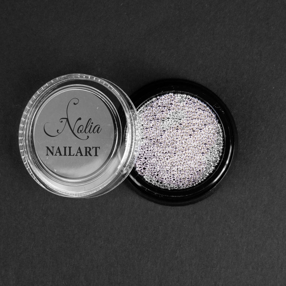 Caviar metallic SILVER - POT MIX